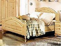Кровать Бобруйскмебель Лотос одинарная с заглушкой  с ножной спинкой, Б-1089-05