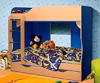 Кровать КМК 03, 0253 двухъярусная (80)