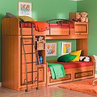 Кровать-чердак Любимый дом Аврора  ЛД 504.140 (80)