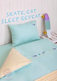 Детский комплект Luxberry Skateboys, простыня на резинке
