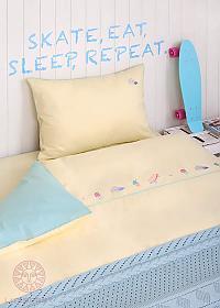 Детское постельное белье Luxberry Skategirls, простыня на резинке