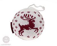 Декоративный шар Luxberry Олень, белый/бордо