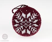 Декоративный шар Luxberry Norway, бордо/белый
