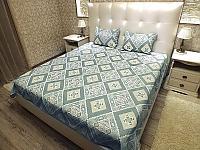 Покрывало Natures Уютный Прованс-Бирюза с подушкой