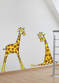 Настенный стикер Урбаника Жирафята