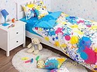 Постельное белье Хлопковый край Happy blue