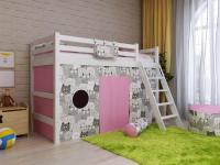 Кровать Райтон Отто-6 полувысокая с наклонной лестницей
