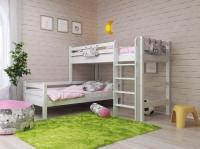 Кровать Райтон Отто-7 угловая с прямой лестницей