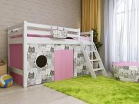 Кровать низкая Райтон Отто-12 с наклонной лестницей