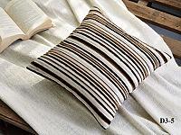 Декоративная наволочка Asabella D3-5, темно-коричневая с молочным