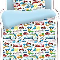 Постельное белье в детскую кроватку Непоседа Городское движение