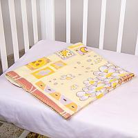 Байковое одеяло ОТК Паровозик
