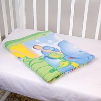 Байковое одеяло ОТК Бегемот и попугай