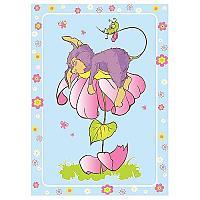 Байковое одеяло ОТК Мышка на цветке