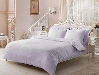 Жаккардовое постельное белье Tivolyo Jaquard, лиловое