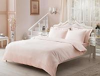 Жаккардовое постельное белье Tivolyo Jaquard, розовое