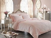 Жаккардовое постельное белье Tivolyo Bambura, розовое