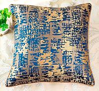 Декоративная подушка Asabella D6-5, золото на тёмно-синем