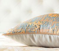 Декоративная подушка Asabella D7-4, золото на серо-голубом