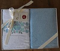 Купить полотенце Arya Набор Полотенец Arya 2 Пр. Emine Экрю, Голубой