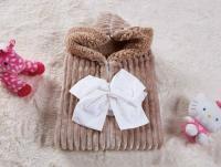Плед-конверт KAZANOV.A. Infanty с капюшоном, бежевый