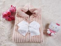Плед-конверт KAZANOV.A. Infanty с капюшоном, пудра