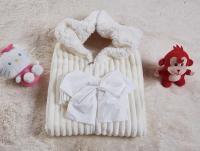 Плед-конверт KAZANOV.A. Infanty с капюшоном, молоко