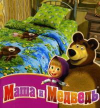 Постельное белье Маша и медведь, На рыбалке
